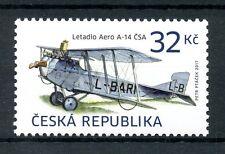 Czech Republic 2017 MNH Airplanes Aero A-14 1v Set Planes Aviation Stamps