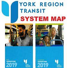 YRT 🚌🚇 2019 York Region Transit Public System Map Bus Train