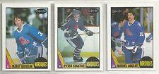 1987-88 O-PEE-CHEE Hockey Quebec Nordiques 12-card Team Set  Mario Gosselin