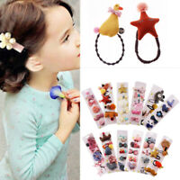 5Pcs/set Baby Girl Hair Clip Bow Flower Barrettes Party Kids Hairpins Headwear