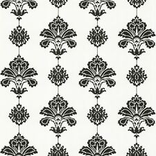 Graham & Brown Wallpaper Fresco Damask Paste the Paper Black and White
