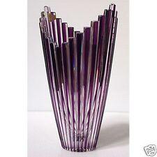 Caesar CRYSTAL Mikado VASE Purple Czech Bohemiae Cased