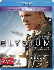 Elysium - Matt Damon Blu-ray Region B No UV Code Disc As New