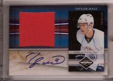 Taylor Hall 2010 Panini Limited RC Auto/Jersey #/49 Devils/Oilers FREE SHIP