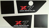 SUZUKI GT250 X7 GT250E SIDE PANEL DECALS