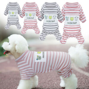 Winter Dog Pajamas Sleepwear Clothes Warm Puppy Cat Dog Jumpsuit Coat Apparel