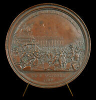 Medal Historic Arrival Of King Paris 6 Oct 1789 10064 French Andrieu