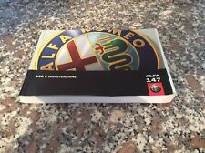 Libretto Istruzioni ALFA Romeo 147 Uso E Manutenzione Libretto Istruzioni A.2000