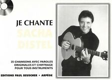 Partition pour voix - Sacha Distel - Je Chante Distel