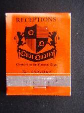 QUAT QUATTA RECEPTIONS ELSTERNWICK 5286483 MATCHBOOK