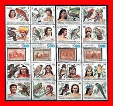 HISTORIA LATINOAMERICANA 1987 x20 STAMPS on STAMPS/COLUMBUS, INDIANS & BIRDS MNH