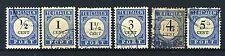 NEDERLAND P13/19 gestempeld 1894-1910 - Cijfer en waarde zwart (donkerblauw)