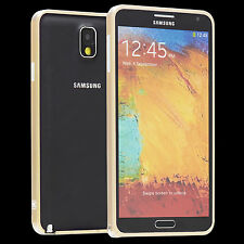 Samsung Galaxy Note 3 n9005 METAL COQUE Case sac Housse Cover étui Gold a9