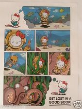 SDCC Comic Con 2014 Handout SANRIO  HELLO KITTY Poster Get Lost in a Good Book
