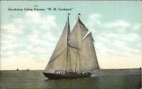 Gloucester MA Fishing Schooner Ship WM Goodspeed c1910 Postcard