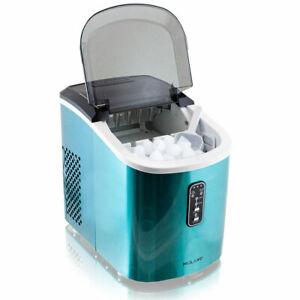 Design Edelstahl Eiswürfelmaschine Eiswürfelbereiter IceMaker Blau gebraucht