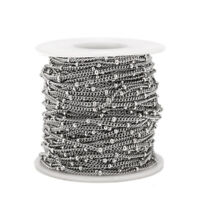 5 Meters Stainless Steel Satellite Chain Bead Ball Cable Chain Findings ffor DIY