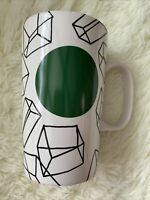 2014 Starbucks 16 oz Coffee Mug Cup Geometric Cubes Prisms Dot Collection As Is