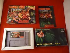 Donkey Kong Country 1 (Super Nintendo, 1994) SNES COMPLETE w/ Box manual & VHS!