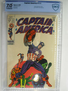 Captain America #111, Steranko, CBCS, Fine/VF, 7.0*, Off-White/White Pages