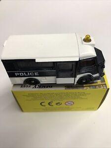 Atlas Dinky Toys 566 Type H Police Voiture Miniature - Noir et Blanc