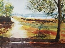 Longmoor Pool 15x11in Watercolour Painting by Steven Cronin Original Signed Art