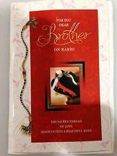 Raksha Bandhan Om Rakhi with Shubh Tikka & Greeting Card USA SELLER