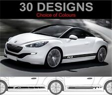 PEUGEOT RCZ Side Stripes decals stickers Graphics deux côté