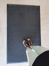 Tapis Caoutchouc - 90cm x 150cm x 0.5cm - Noir - spécial Entrée - Haut Trafic