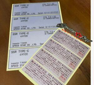 Decals Sticker Spec SSR Type C Complate