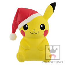 NEW Pokemon Christmas Santa Hat Pikachu Large DX Plush 35cm BANP37885 US Seller