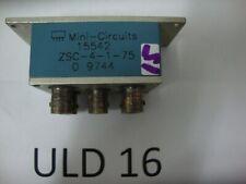 Mini-Circuits Splitter Zsc-4-1-75B 75 Ohms Bnc Connectors