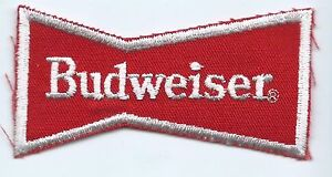 Budweiser beer advertising patch 1-7/8 X 1-1/8 X 1-7/8 #1926
