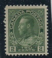 Canada Sc 107 1922 2c yellow green  George V Admiral stamp VF NH Free Shipping
