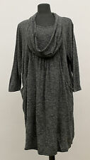 $300 DELUCA European Knit Women's Pullover Tunic Blouse Gray Sale Sample 44/46