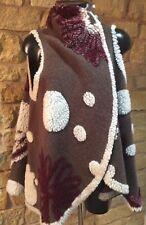Made In Italy Ladies Italian Wool Waistcoat Gilet Wraparound One Size (10-20)
