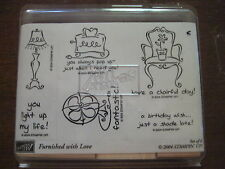 "Set of 6 Stampin Up!  ""Furnished with Love"" Rubber Stamps 2004"