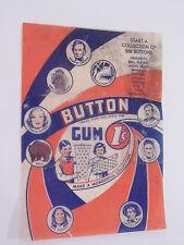 1930 PR4 Cracker Jack Pin Button Baseball Gum Wrapper Indian Presidents