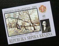 RSK 2001 Serbia Bosnia Croatia Block Private Issue painting art paint tree  C2