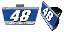 NASCAR #48 JIMMIE JOHNSON Metal Trailer Hitch Cover-NASCAR Hitch Cover