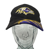 Reebok Baltimore Ravens Baseball Cap NFL Black Embroidered OSFM Strap Back Hat