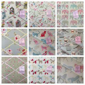 Handmade Pin/memo/Notice/Photo board Clarke & Clarke fabrics choice style size!