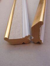 >> Lot de 2 anciennes baguettes toilées des années 1960 - longueur 57 cm