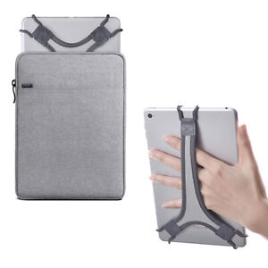 """TFY Protective Pouch Bag with Zip Closure + Hand Strap Holder for 7 - 8"""" Tablets"""
