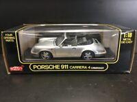Anson Porsche 911 Carrera 4 Cabriolet (silver) 1/18