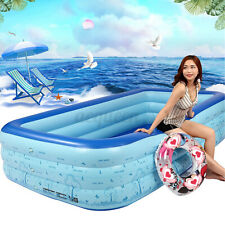 118'' Inflatable Swimming Pool Kids Children Adult Family Outdoor Water Play