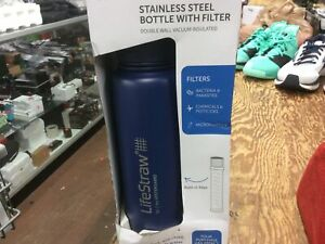 Lifestraw Stainless Steel Bottle With Filter Blue (Box Not Perfect)