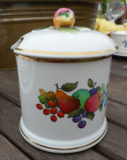 ANTIQUE PRESERVE POT&LID  HAND PAINTED, CROWN STAFFORDSHIRE.5 INS TALL GOOD.
