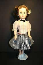 "Vintage Horsman - CINDY Doll - 14"" tall - Brown Hair - Blue Open/Close Eyes"