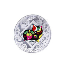 Silver plated the chinese zodiac pig commemorative coin 2019 souvenir art c GT